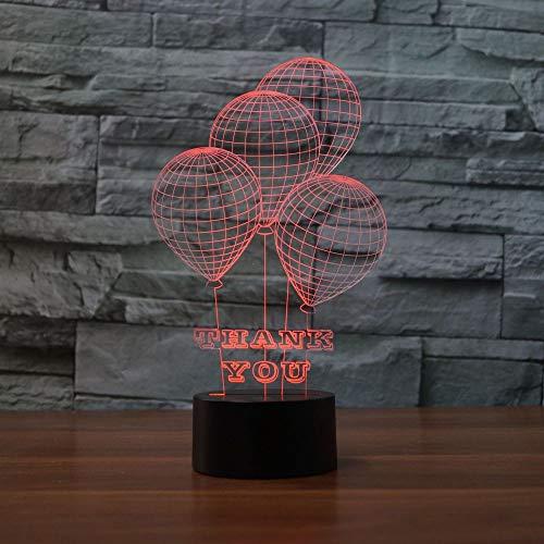 BFMBCHDJ Thanksgiving Kreative Geschenke Led Nachtlicht Bunte Acryl Led Tischlampe Schlafzimmer Nachttischlampe A3 Schwarz basis + fernbedienung