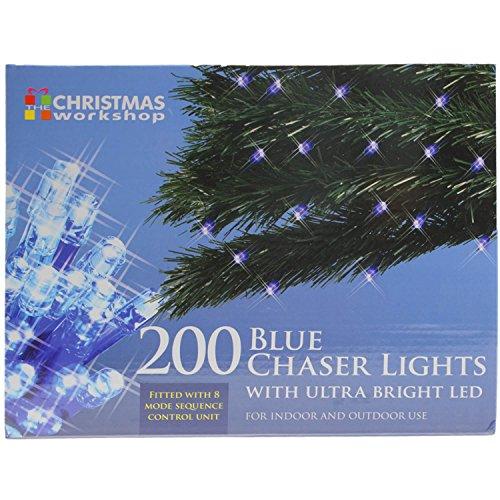The Christmas Workshop 77480 200 LED Blue Chaser Christmas Lights |...