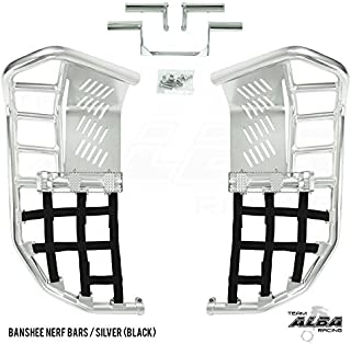 Yamaha Banshee YFZ 350 (1987-2006) Propeg Nerf Bars Silver with Black Net (More Net Color Choices Available)