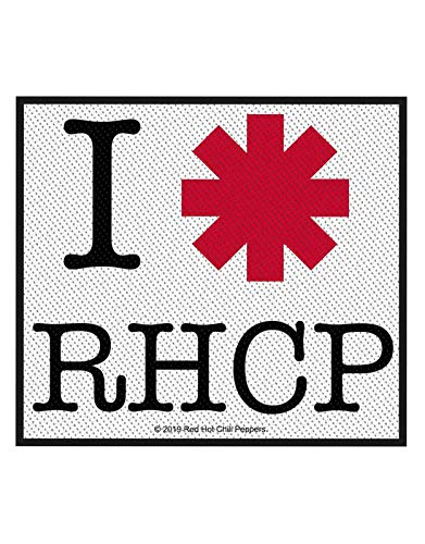 Red Hot Chili Peppers Póster I Love Rhcp Band Logo Nuevo Oficial Sew On Woven