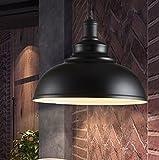 Industrielle Modern Metall Pendelleuchte Hängeleuchte Φ 30cm für E27 Leuchtmittel Eisen Lampenschirm für Esszimmer, Wohnzimmer