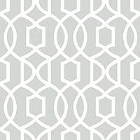 壁紙シール はがせる Nu Wallpaper NU1421 幾何学 グレー 灰色 リメイクシート