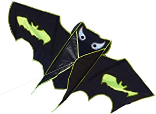 Besra 51inch Bat Kite Single Line Easy to Fly Animal Nylon Kite with Handle & Strings for Kids & Adults
