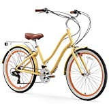 sixthreezero EVRYjourney Women's 21-Speed Step-Through Hybrid Cruiser Bicycle, 26' Wheels and 17.5'...