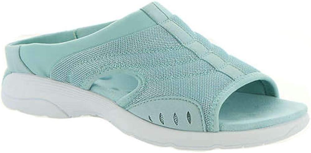 Easy Spirit Womens Traciee 2 Open Toe Comfort Slide Sandals Blue 9 Medium (B,M)