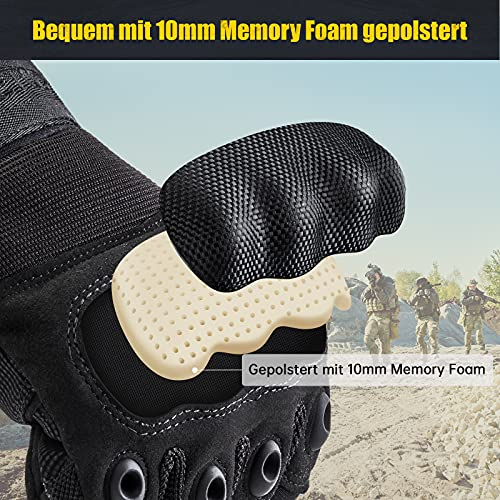 [Sport Handschuhe] FREETOO Motorrad Handschuhe Herren Vollfinger Army Gloves Ideal für Airsoft, Militär,Paintball,Airsoft, lebenslange Garantie - 5