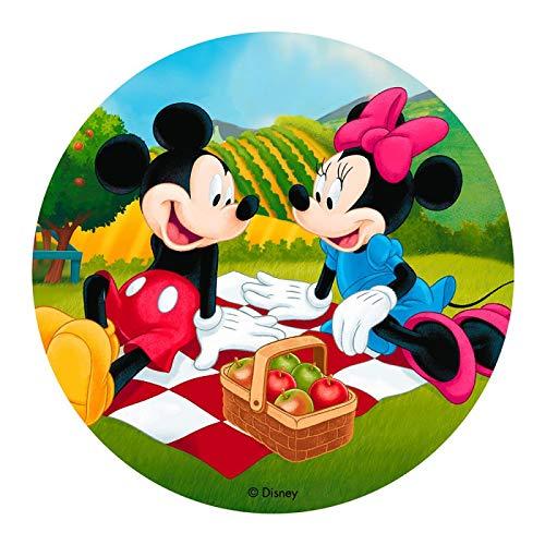 Dekora - Decoracion Tartas de Cumpleaños Infantiles en Disco de Oblea de Disney Mickey Mouse - 20 cm