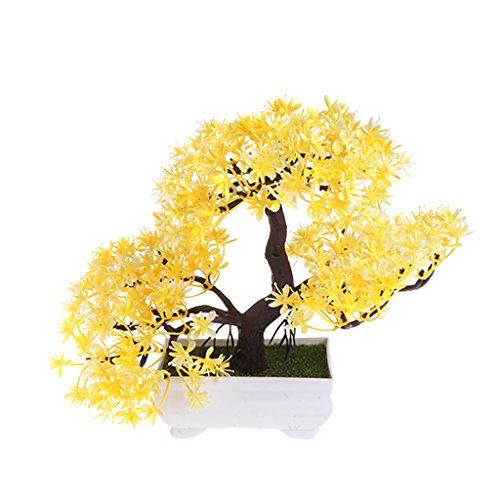 NOWON Emule Bonsai Boda Flores Artificiales Decorativas Plantas de Maceta Falsas Adornos