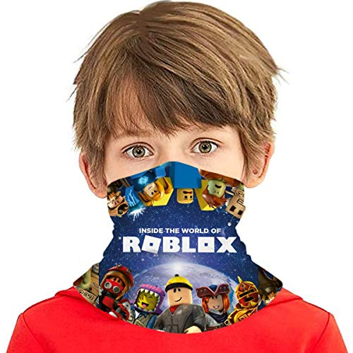 Rob-Lox Inside Wallpaper Kids Neck Gaiter Face Cover Boys Girls Bandanas Mouth Cloth Cover Balaclavs Tube Headbands For Dust Sun Protection