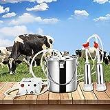 TELAM Máquina De Ordeño De Vacas Eléctrica 7L Máquina Ordeñadora De Bomba De Succión De Pulsación Al Vacío Para Vacas Equipo Automático Portátil De Ordeño De Ganado Para Granjas O Familias (7L)