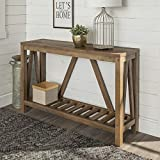 Walker Edison Furniture Company Modern Farmhouse Accent Entryway Table, Reclaimed Barnwood