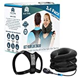Posture Corrector and Neck Traction, Helps for Neck and Back Pain and for Better Posture, by Wonder healing