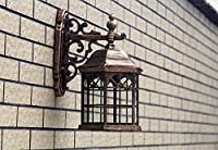 BGHDIDDDDD ウォールライト、中国の屋外ガラスウォールランプ中空城防水ガーデンライトledヴィラウォール燭台ヴィンテージバルコニーライトエクステリアパントリーウォールライト,ブロンズ