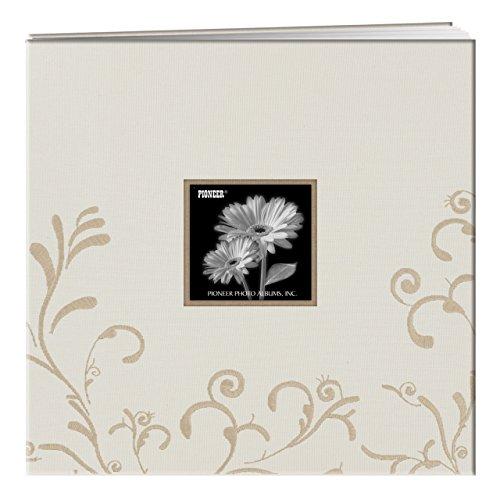Caramel Pioneer Photo Albums MB-88SKFCARMEL 8 x 8-Inch Postbound Silk Fabric Frame Cover Memory Book