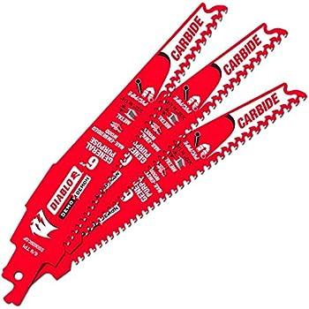 Freud DS0609CGP Diablo 6 Carbide Tipped General Purpose Reciprocating Blade 9-6 TPI 1 Pack 3//32-1//4
