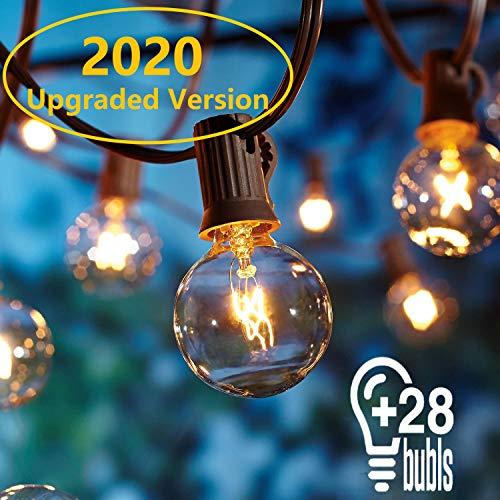 Guirnaldas luminosas de exterior,[Versión actualizada] OxyLED G40 25ft Luces de la secuencia...