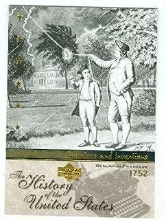 Benjamin Franklin trading card (Inventor American Revolution) 2004 Upper Deck History #I16