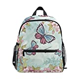 花蝶幼児バックパックブックバッグミニショルダーバッグ1-6年旅行男の子女の子子供用チェストストラップホイッスル