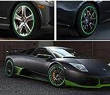 SKS Distribution 16Pcs Verde tiras rueda pegatinas y Adhesivos 18'Inch reflectante cinta de llanta para bicicleta motocicleta coche estilo de coches cinta
