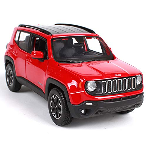 GRX-PRETTY 1:24 Jeep RENEGADE Simulation Alloy Model Car, The Hood Can Be Opened, The Left And Right Doors Can Be Opened, The Car Collection Ornaments, Static Model