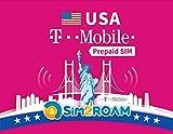 T-Mobile USA Prepagata SIM Card 28 Giorni Illimitato Ad Alta Velocità Dati, Chiamate, Testi,...