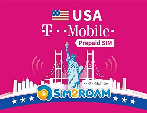 T-Mobile USA Prepaid SIM-Karte 28 Tage unbegrenzt High Speed Daten, Anrufe, SMS, TMobile SIM US, USA