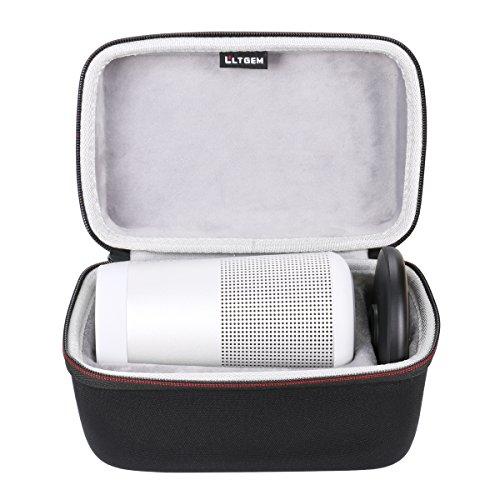 LTGEM Case for Bose SoundLink Revolve or Revolve (Series II) Bluetooth Speaker Fits Charger and Cablet-Black