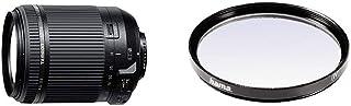 Tamron AF 18-200 mm F/3.5-6.3 XR Di II VC - Objetivo para cámara Nikon (Distancia Focal 18-200mm Apertura f/3.5-6.3) Negro + Hama 070062 - Filtro Ultravioleta Color Neutro 62 mm