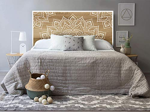 setecientosgramos Cabecero Cama PVC | Mandalin | Varias Medidas | Fácil colocación | Decoración Dormitorio (200x60)
