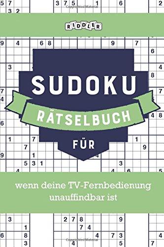 Sudoku Rätselbuch für wenn deine TV-Fernbedienung unauffindbar ist