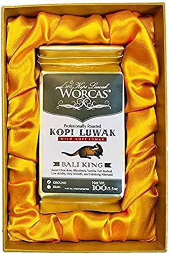 ギフト プレゼント 高級焙煎コーヒー コピ・ルアク KOPI LUWAK コピ・ルアック[Bali King] (粉状/100g)