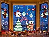 Yuson Girl Navidad Vinilos para Ventanas PapaNoelNavidad Elk Muñeco de Nieve Oso PVC Pegatinas...