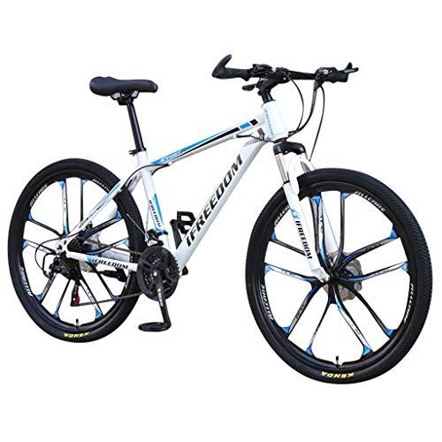 Mountainbikes 26 Zoll, Shimano 21 Gang-Schaltung,Gabelfederung, Jungen-Mädchen-Fahrrad Erwachsenenfahrrad, 10-Speichen-Felgen BMX-Räder Cityräder (Blau)