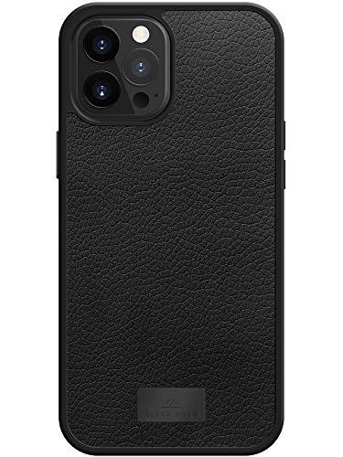 Black Rock - Lederhülle Stoßfeste Hülle Hülle Real Leather passend für Apple iPhone 12 Pro Max   Leder Handyhülle, Echt Ledertasche, Cover (Schwarz)