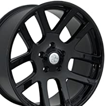 OE Wheels 22 Inch Fits Chrysler Aspen Dodge Dakota Durango Ram 1500 RAM SRT Style DG51 22x10 Rims Gloss Black SET