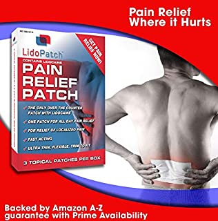 Lidocaine Patch, LidoPatch - Maximum 12 Hour Numbing Pain Relief (3 Count)