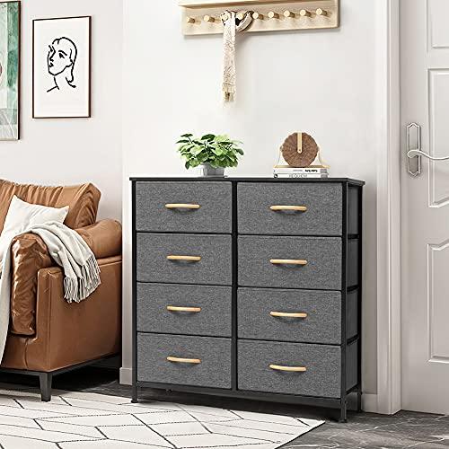 Crestlive Products 8 Drawer Dresser, Furniture Storage Tower, Fabric Organizer Unit for Bedroom,...