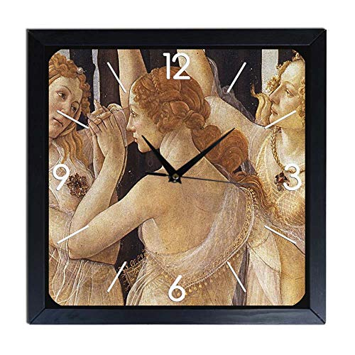 Botticelli - Reloj de pared de madera