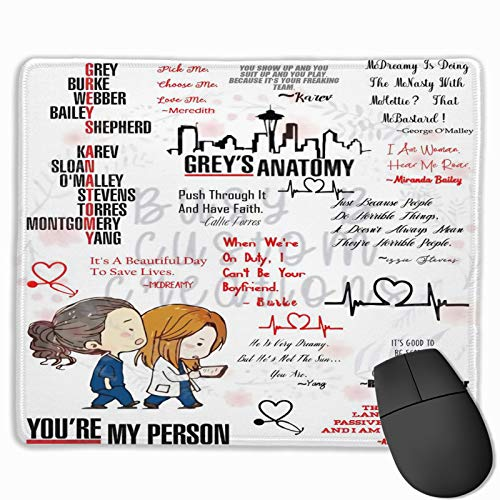 Dawiine Greys-Anatomy Mouse Pads Keyboard Mouse Pad Non-Slip Nature Rubber for Gaming Office Working Home Mouse Mat 9.8x11.8inch