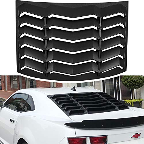 Rear Window Louvers for Chevrolet Chevy Camaro 2010 2011 2012 2013 2014 2015 ABS Windshield Sun Shade Cover Lambo Style Matte Black