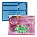 Epoda Molde de silicona para moldear con forma de resina epoxi, caja de regalo para manualidades, decoración del hogar, caja rectangular de resina