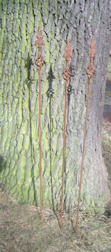 Rost 116 cm 3 Stück Gartenstab Rankstab Schnecke Eisen  versandkostenfrei