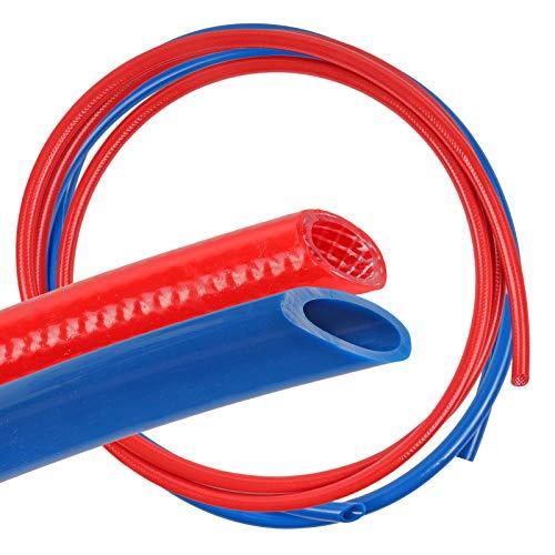 Trinkwasserschlauch Set Rot & Blau 5m 10 x 3 mm Kalt & 5m 10 x 2 mm Warmwasser für Wohnmobil & Wohnwagen