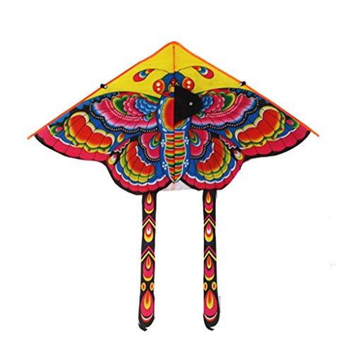Haorw Schmetterling Design Drachen für Kinder Erwachsene Spiel im Freien, zufällige Farbe