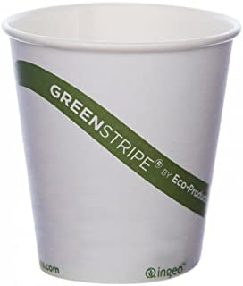 Eco-Products - GreenStripe Renewable & Compostable Hot Cups - 10 oz. Cup - EP-BHC10-GS (20 Packs of 50)