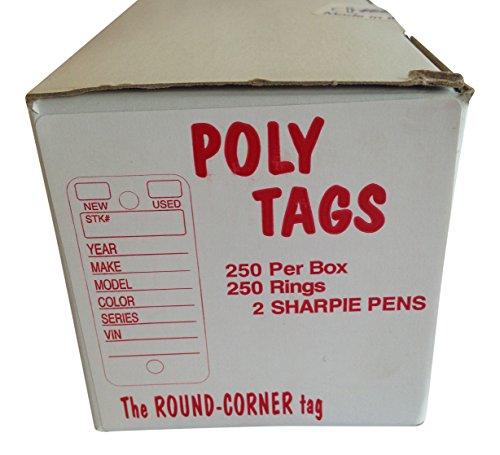 WHITE Versa Tag Versa-Tag POLY Key Tags 250 Rings Markers FREE SAME DAY SHIP!!