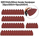50pcs / Set Papel de lija 120 / 240Grits Mouse Detailing Discos de lijado giratorio Accesorios de almohadilla lijadora, papel de lija
