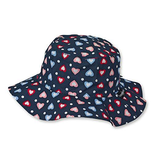 Sterntaler Hut für Mädchen mit buntem Herzchen-Motiv, Alter: 18-24 Monate, Größe: 51, Blau (Marine)