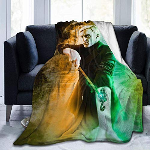 Tengyuntong Skin-Friendly Flannel Blanket 3D Draco-Malfoy Lightweight Soft Cozy Bed s for Couch Sofa Chair Suitable for All Seasons for Adult Kids Girls 50'X40'