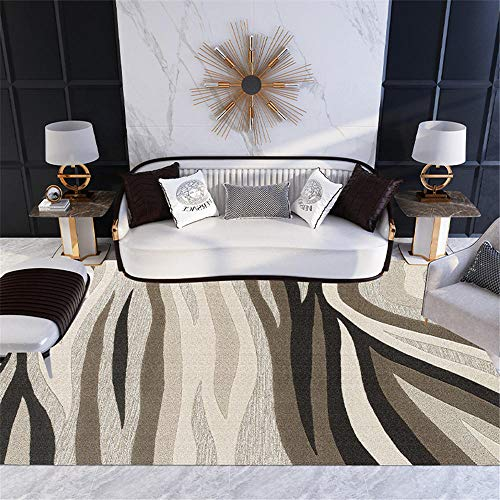 Rugs Bedroom Large grey Carpet salon abstract style gray striped pattern soft carpet anti-slip Room Rug 100X200CM Carpet Spots For Classroom 3ft 3.4''X6ft 6.7''
